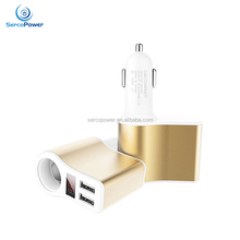 Dual USB Car Charger Adapter with LCD Screen Display for iPhone Android charging
