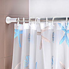 stainless steel adjustable shower metal curtain rod holder accessories