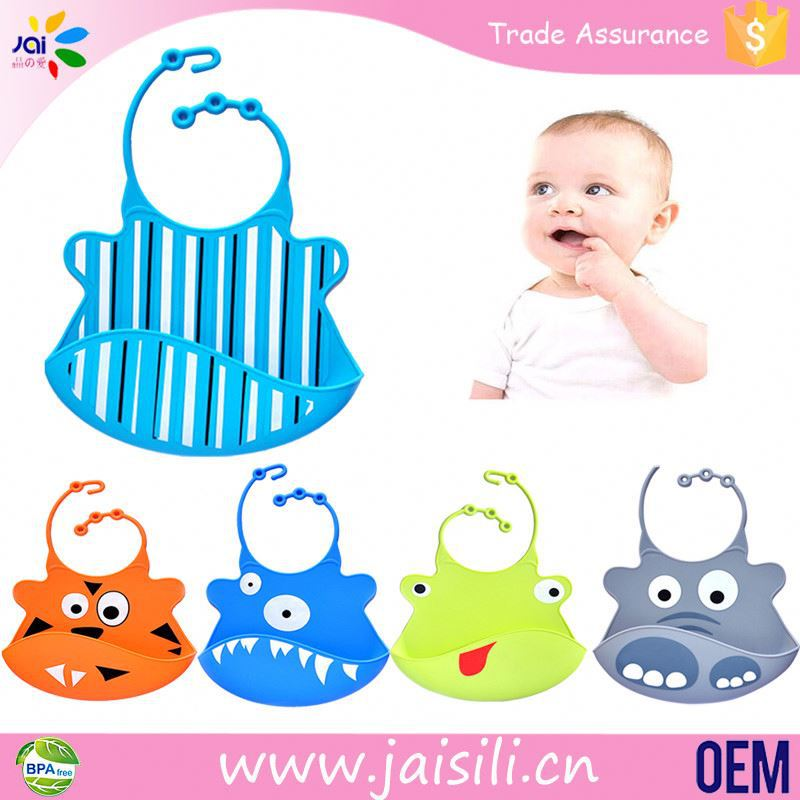 Best selling waterproof with Food Catcher Pocket baby bibs for kid