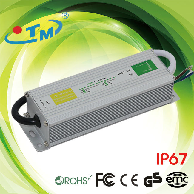 IP67 waterproof electronic led driver 36w 12v ac/dc power supply with CE RoHs FCC free shipping