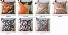 Origin modern geometrical printed sofa back support cushion hold pillow Color Blocking collection