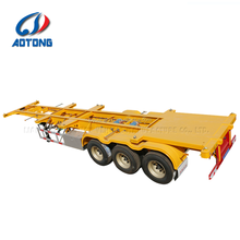 Port truck Logistics 3 axles 40ft skeleton container semi trailer chassis with twist locks