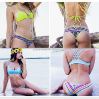2016 Factory direct sale Newest Hot sexy colorful Brazilian bikini