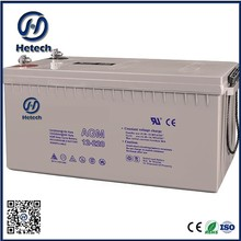 China supply deep cycle 12v solar panel battery 220ah with good price