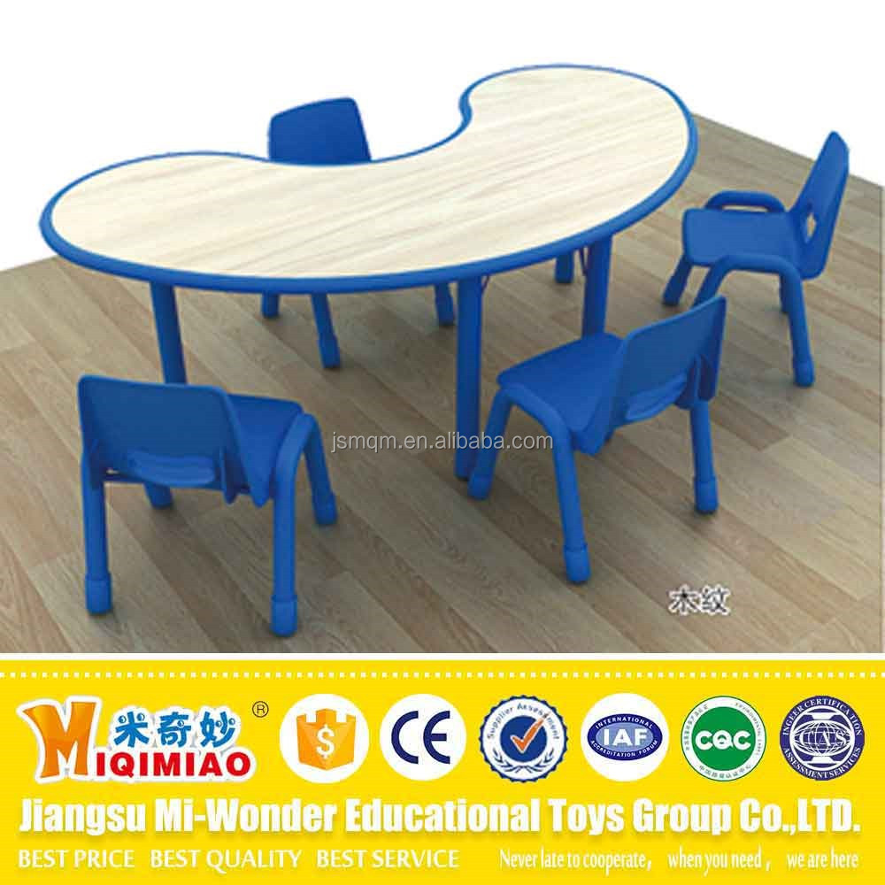 Kids play table and chair set in kindergartens