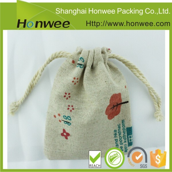 top quality custom organic cotton draw string bag