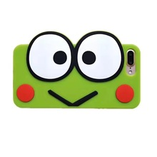 New 3D Cartoon Smile Frog Soft Silicone Coque Phone Case For iPhone 6 6 s plus 7 7 plus fairy tale animals big eyes cover