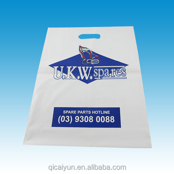 Cheapest multicolor printing PE Cheap Die Cut Patch Handle Biodegradable Shopping Plastic Bag