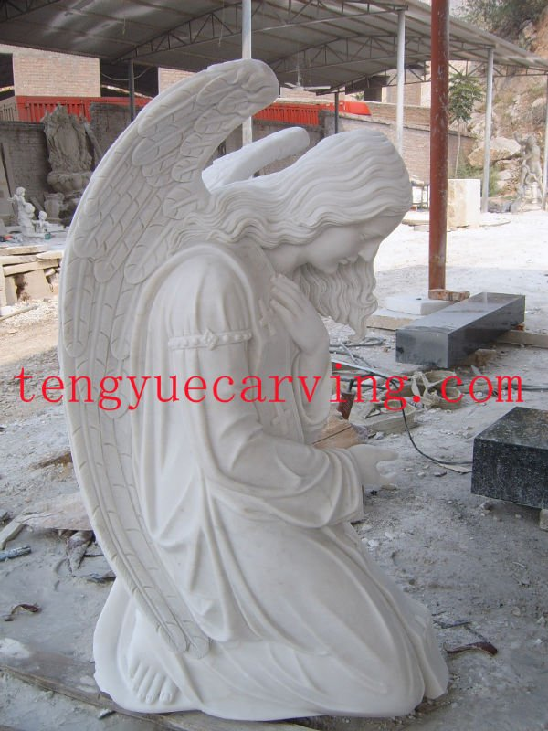 Granite Tombstone-Angel Monument
