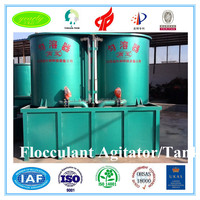 china professional machine made high quality flocculant agitating vessel with doing system for sludage dwatering for sale