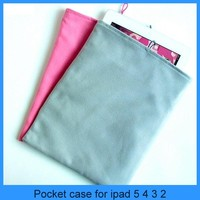 Factory price wholesale hot selling stylish velvet soft bag case for fashional ipad support bags