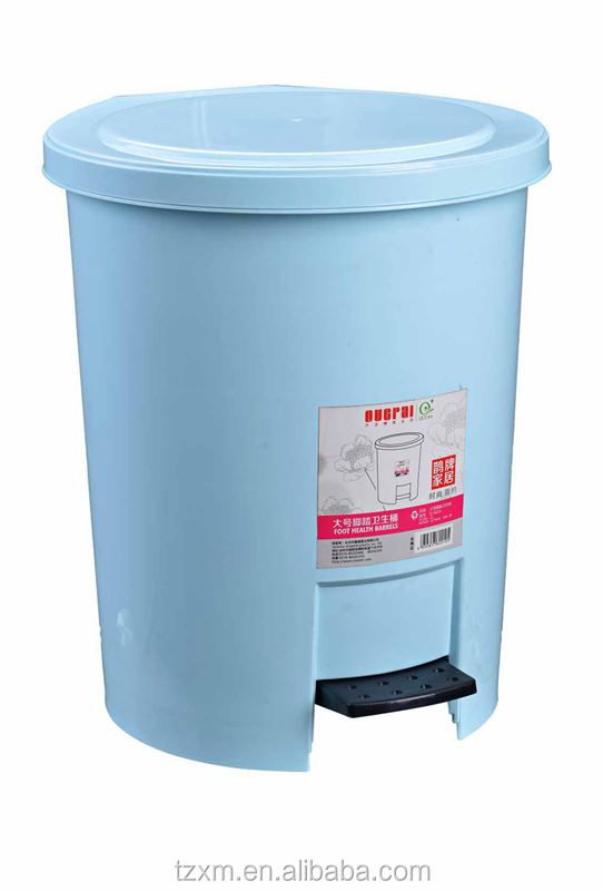 Large plastic foot pedal waste bin