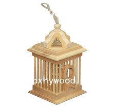 Outdoor Large Hanging Bird Feeder Wooden Bird Cage Wood Bird House