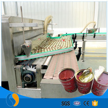 Tomato drum paste to can sauce processing machine