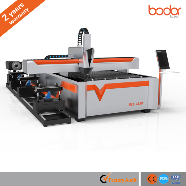 Metal Fiber Laser Cutter Round & Square Tube Machine For 2 Years Warranty