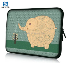 Elegant shape serviceable colorful neoprene laptop sleeve without zipper