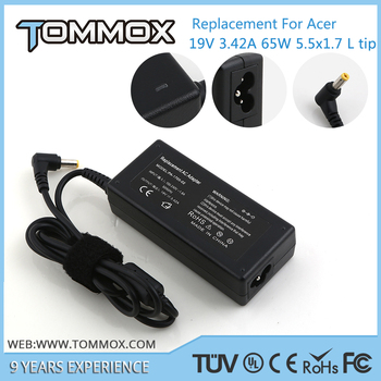 5.5*1.7 L 19V 3.42A 65W laptop ac adapter for ACER AP.06503.006 6593 Series Travelmate 8000 8371 Series 6292 Series