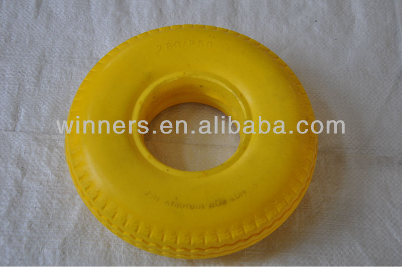 heavy duty pu foam filled wheel/tire wheelchair tire 2.80/2.50-4