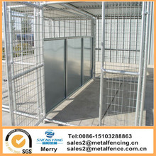 5'x10'x6' Heavy Duty galvanized steel tubing 3-run Dog Kennel with 2 fight guard dividers