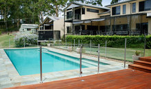 Tempered glass pool fencing with AS/NZS2208:1996, BS6206, EN12150 certificate