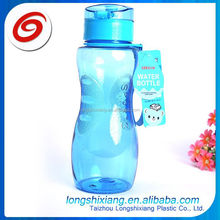 2015 plastic water bottle with pill container,1 litre plastic bottle,roll up plastic water bottle