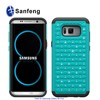 Dual Layer Rhinestone Cell Phone Cover Case for Samsung Galaxy S8+ S8 Edge MetroPCS Phone Case
