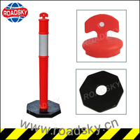 T-top Rubber Base Road Delineator Post Spring Post Fixed Bollard