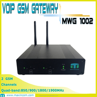 intercom system/VOIP 2 GSM Gateway/ 2 sim mobile phone