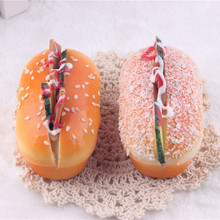 Cute hot dog sandwich bread food squishy charm kawaii Jumbo Slow Rising Stress Toy