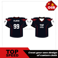 2016 Wholesale fashion Sublimation Custom American Rugby jersey american rugby wear