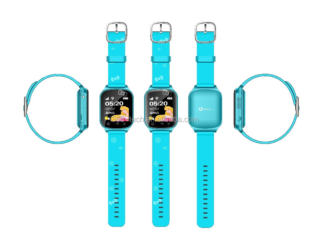 Kids gsm gps tracker watch kids cell phone watch with SOS panic button, LBS+GPS, mobile apps and long battery life