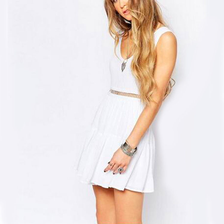 2016 stylish women white mini gambar model gaun designs dress