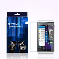 Wholesale price 99% transparents tempered glass screen protector anti-glare screen protectors for blackberry Z10