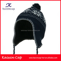 Wholesale knit kids fashion beanie cap with ears