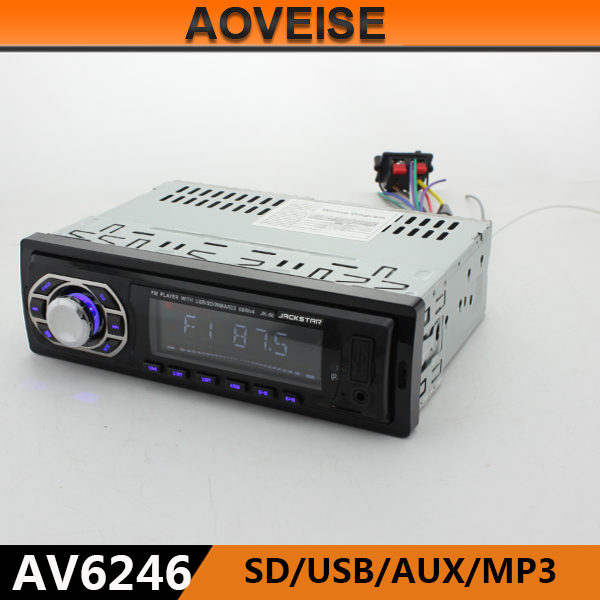 AOVEISE AV6246 new cheap Car Audio with mp3 and radio Iran car radio 1 din.7388ic car audio with remote controller cheap price