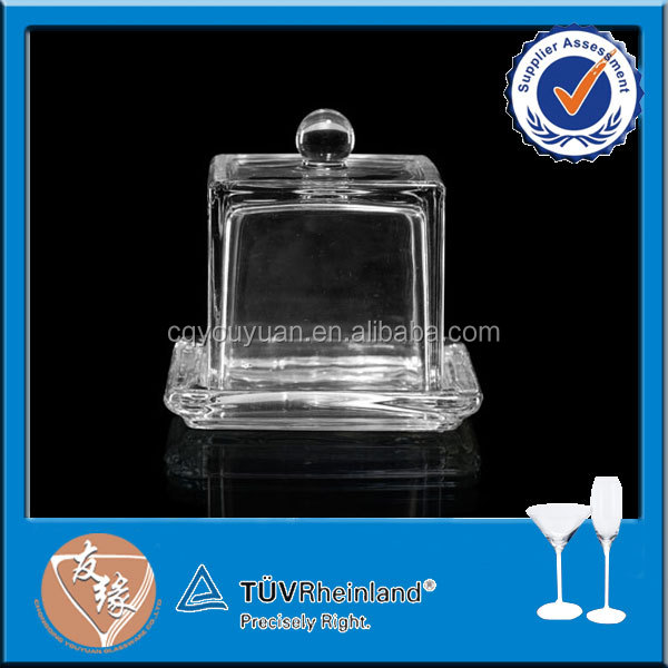 Promotional square glass dishware for party