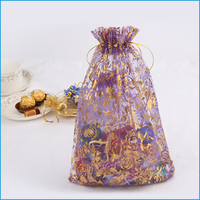 new fancy hot wholesale fabric handmade small drawstring candy christmas reusable bag pouch for packing gifts