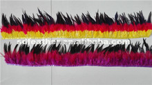 new arrival three colors rooster saddle feather trims fashion coque fringe for costume