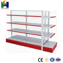 used commercial metalic chrome wire beer coller gondola shop shelves shelving for sale