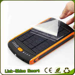 Factory Price Portable Ultrathin Solar Power Bank 23000mah Solar Charger With Led Light