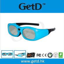 Plastic 3D movie glasses GT610 Red/Black/Green/Blue