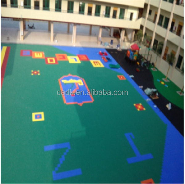 nursery kindergarten classroom playground ground tile floor