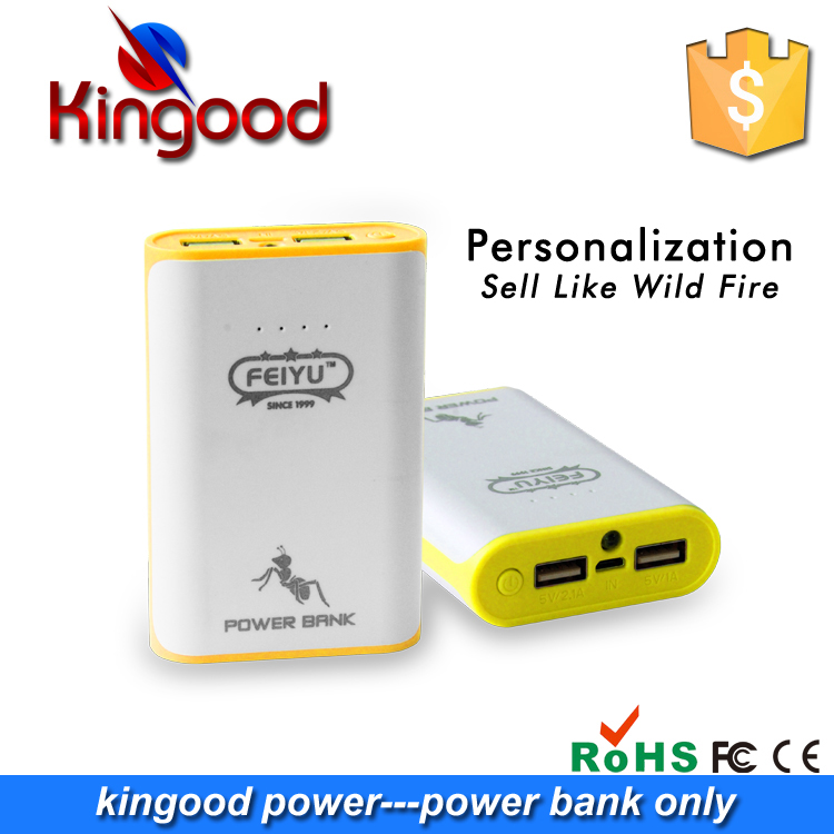Hot selling items 2.1A dual usb output fast portable charger 7800mAh rohs outdoor travel mini power bank