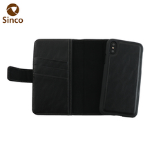 New arrival card slot flip wallet padded leather cell phone cases for iPhone X