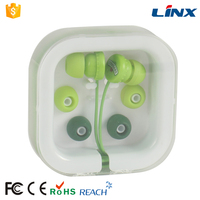 Promotional cute earbuds packing with plastic case for MP3 players, MP4 players, Tablet PCs