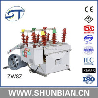 Zw20 12 kv 3 phase vacuum circuit breaker good quality low price made in china