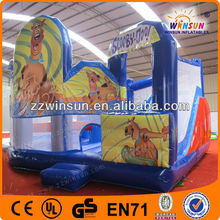 Top rated decorative inflatable house with art panels