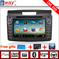 Bway In Dash 2 din Car video player for CR V 2012 CAR DVD with GPS Navigation car Radio Bluetooth steering wheel