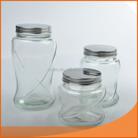 borosilicate glass jar with different sizes and lids