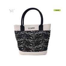economical ladies lace+canvas hand bags women,fashion trends branded handbags high quality
